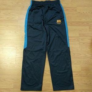 FCB Navy Blue Striped Track Pants w Pockets Medium